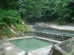 湯野上温泉 河原の露天風呂